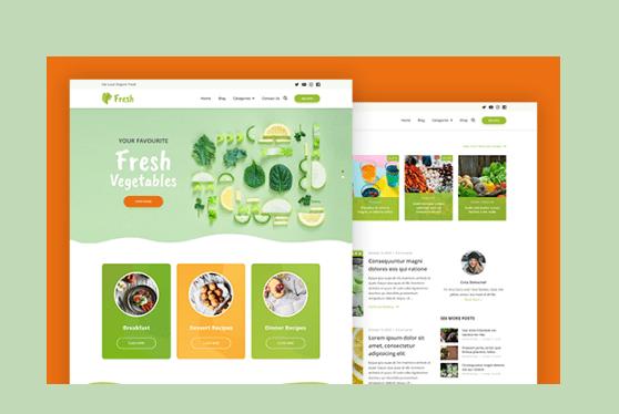 Fresh - Nuevo Theme para bloggers de salud y recetas 1